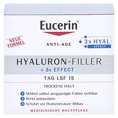 EUCERIN Anti-Age HYALURON-FILLER Tag trockene Haut + gratis Eucerin Dermatoclean Mizellen-Reinigung 100ml 50 Milliliter - Vorderseite