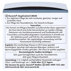Eucerin AtopiControl Creme + gratis Eucerin AtopiControl Anti-Juckreiz Spray 50 ml 75 Milliliter - Linke Seite