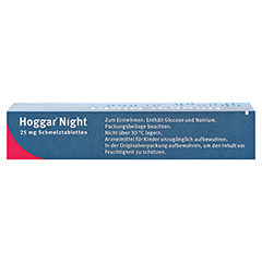 Hoggar Night 25mg 10 Stück - Oberseite