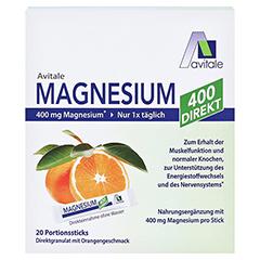 MAGNESIUM 400 direkt Orange Portionssticks 20x2.1 Gramm - Vorderseite