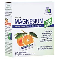 MAGNESIUM 400 direkt Orange Portionssticks 20x2.1 Gramm