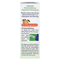 MAGNESIUM 400 direkt Orange Portionssticks 20x2.1 Gramm - Linke Seite