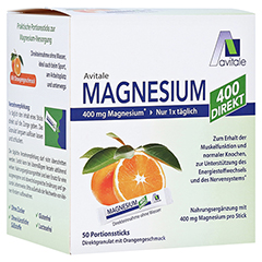 MAGNESIUM 400 direkt Orange Portionssticks 50x2.1 Gramm
