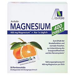 MAGNESIUM 400 direkt Orange Portionssticks 50x2.1 Gramm - Vorderseite
