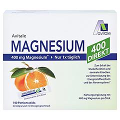 Magnesium 400 Direkt Orange Portionssticks 100x2.1 Gramm - Vorderseite