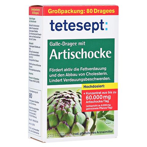 Tetesept Galle-Dragee mit Artischocke 80 Stück
