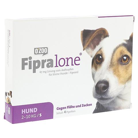 FIPRALONE 67 mg Lsg.z.Auftropf.f.kleine Hunde 4 Stück
