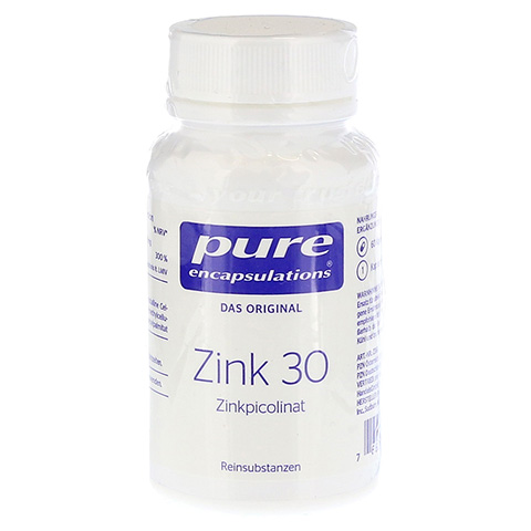 PURE ENCAPSULATIONS Zink 30 Zinkpicolinat Kapseln 60 Stück