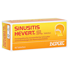 SINUSITIS HEVERT SL Tabletten 40 Stück N1