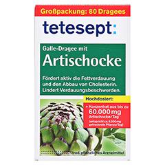Tetesept Galle-Dragee mit Artischocke 80 Stück - Vorderseite