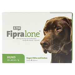 FIPRALONE 268 mg Lsg.z.Auftropf.f.große Hunde 4 Stück - Vorderseite