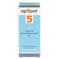 APOPET Schüßler-Salz Nr.5 Kalium phos.D 6 vet. 12 Gramm - Vorderseite