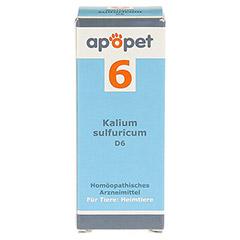 APOPET Schüßler-Salz Nr.6 Kalium sulf.D 6 vet. 12 Gramm - Vorderseite
