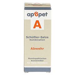 APOPET Schüßler-Salze-Kombination A ad us.vet.Gl. 12 Gramm - Vorderseite