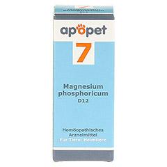 APOPET Schüßler-Salz Nr.7 Magnesium phos.D 12 vet. 12 Gramm - Vorderseite