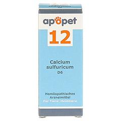 APOPET Schüßler-Salz Nr.12 Calcium sulf.D 6 vet. 12 Gramm - Vorderseite