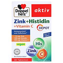 DOPPELHERZ Zink+Histidin Depot Tabletten 30 Stück - Vorderseite
