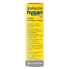 Azelastin hysan 1mg/ml 10 Milliliter N1 - Linke Seite