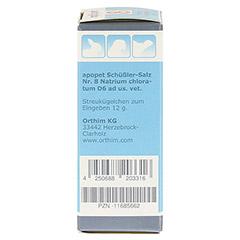 APOPET Schüßler-Salz Nr.8 Natrium chlor.D 6 vet. 12 Gramm - Linke Seite
