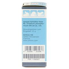 APOPET Schüßler-Salz Nr.5 Kalium phos.D 6 vet. 12 Gramm - Linke Seite