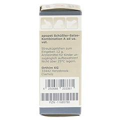 APOPET Schüßler-Salze-Kombination A ad us.vet.Gl. 12 Gramm - Linke Seite