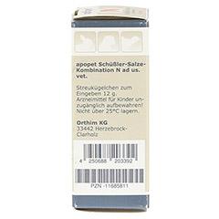 APOPET Schüßler-Salze-Kombination N ad us.vet.Gl. 12 Gramm - Linke Seite