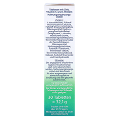 DOPPELHERZ Zink+Histidin Depot Tabletten 30 Stück - Rechte Seite