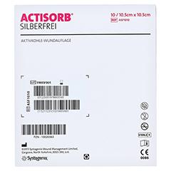 ACTISORB SILBERFREI 10,5x10,5 cm Kompressen 10 Stück - Rückseite