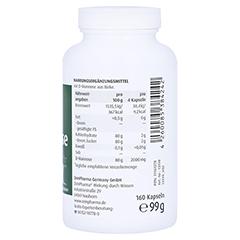 Natural D-mannose 500 mg Kapseln 160 Stück - Rechte Seite