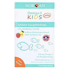 NORSAN Omega-3 Kids Jelly Dragees Vorratspackung 120 Stück - Vorderseite