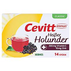 CEVITT immun heißer Holunder classic Granulat 14 Stück - Vorderseite