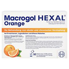 MACROGOL HEXAL Orange Plv.z.Her.e.Lsg.z.Einn.Btl. 50 Stück - Rückseite