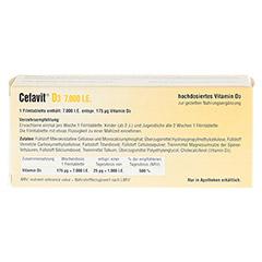 CEFAVIT D3 7.000 I.E. Filmtabletten 100 Stück - Rückseite