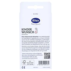 RITEX Kinderwunsch Gleitmittel Gel 8x4 Milliliter - Rückseite