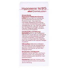 HYPOSENS Kids AKUT CremeLotion 50 Milliliter - Rückseite