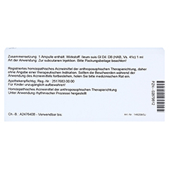 ILEUM GL D 8 Ampullen 10x1 Milliliter N1 - Rückseite