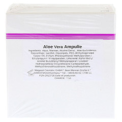 ALOE VERA AMPULLEN 10x3 Milliliter - Rückseite