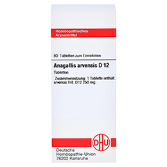 ANAGALLIS ARVENSIS D 12 Tabletten 80 Stück N1 - Vorderseite