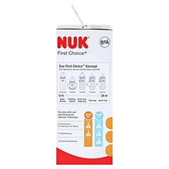 NUK First Choice+ Glasfl.Silikonsaug.Gr.1 S 120 ml 1 Stück - Linke Seite