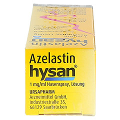 Azelastin hysan 1mg/ml 10 Milliliter N1 - Oberseite