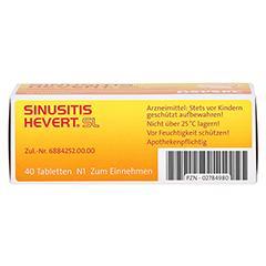 SINUSITIS HEVERT SL Tabletten 40 Stück N1 - Unterseite