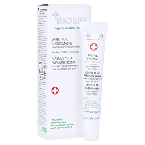 Biomed Erste Hilfe Hypoallergene Augenmaske 15 Milliliter