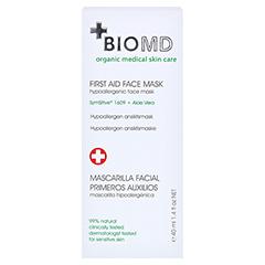 Biomed Erste Hilfe Hypoallergene Gesichtsmaske 40 Milliliter - Rückseite