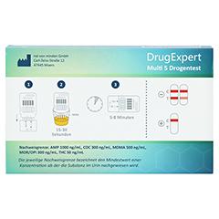 DRUG EXPERT Multi 5 AMP COC MDMA MOR THC Teststr. 1 Stück - Rückseite