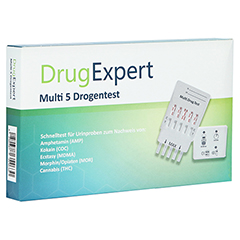 DRUG EXPERT Multi 5 AMP COC MDMA MOR THC Teststr. 1 Stück