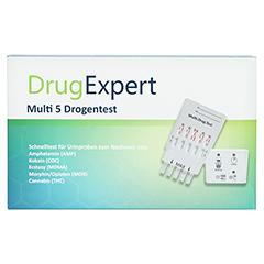 DRUG EXPERT Multi 5 AMP COC MDMA MOR THC Teststr. 1 Stück - Vorderseite