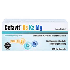 CEFAVIT D3 K2 Mg 7.000 I.E. Hartkapseln 100 Stück - Vorderseite