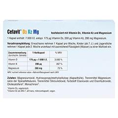 CEFAVIT D3 K2 Mg 7.000 I.E. Hartkapseln 100 Stück - Unterseite