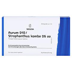 AURUM D 10/Strophanthus kombe D 6 aa Ampullen 8x1 Milliliter N1 - Vorderseite