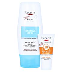 EUCERIN Sun After Sun Lotion + gratis Eucerin Sun Oil Control Body LSF50+ 150 Milliliter